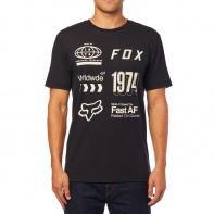 Pánské technické triko FOX Wrldwd Ss Airline Tee Black/Grey