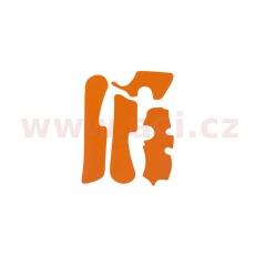 gumové protektory rámu KTM, VIBRAM (sada, oranžová)