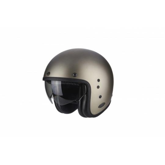 Moto přilba SCORPION BELFAST solid titanová + kšilt