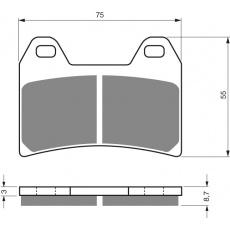 brzdové desky  DP jako GF 141