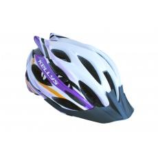 KELLYS Přilba Dynamic white-alpine purple M/L