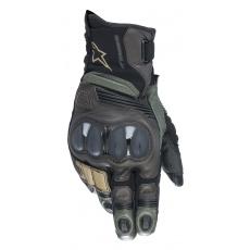 rukavice BELIZE 2 DRYSTAR 2022, ALPINESTARS (černá/zelená/hnědá)