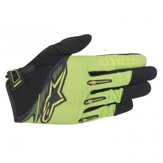 Alpinestars Flow rukavice Bright Green Black