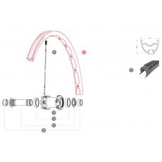"""MAVIC KIT FRONT RIM CROSSMAX XL 2015 26"""" (LV2310700)"""