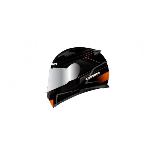 přilba Apex Fusion, CASSIDA (černá matná/oranžová/bílá, balení vč. pinlock folie)