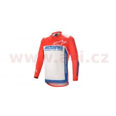dres RACER SUPERMATIC 2021, ALPINESTARS (červená/modrá/bílá)