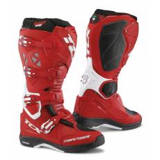 Moto boty TCX COMP EVO 2 MICHELIN® červeno/bílé