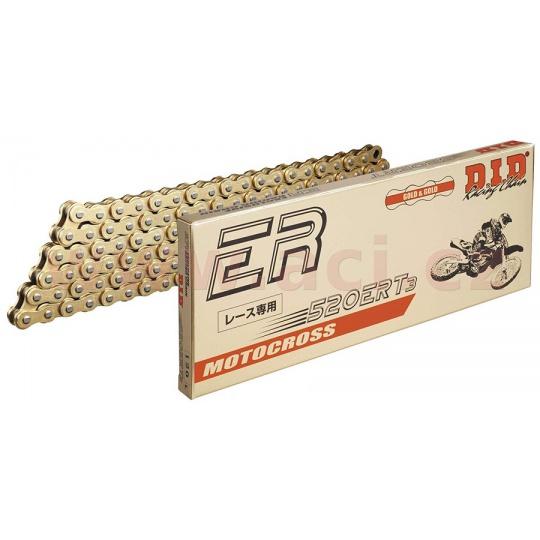 řetěz 520ERT2, D.I.D. - Japonsko (barva zlatá, 108 článků vč. spojky ZJ)