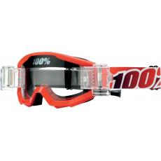 brýle Roll-Off STRATA SVS FIRE RED, 100% (čiré plexi)