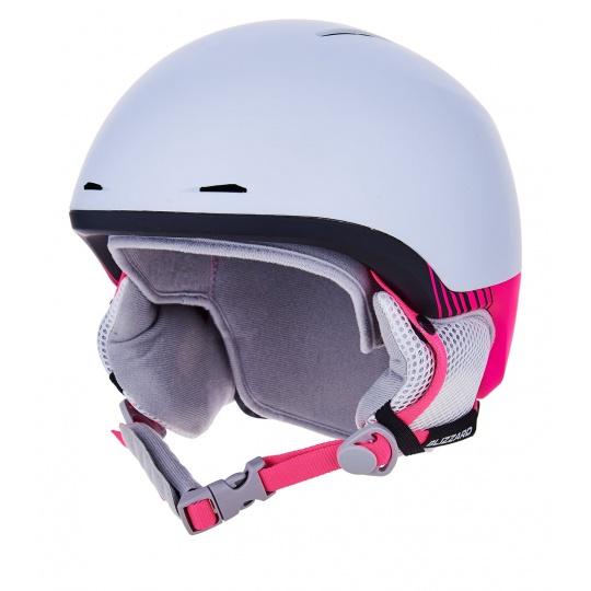 helma BLIZZARD Viva Speed ski helmet junior, white matt/black matt/pink matt