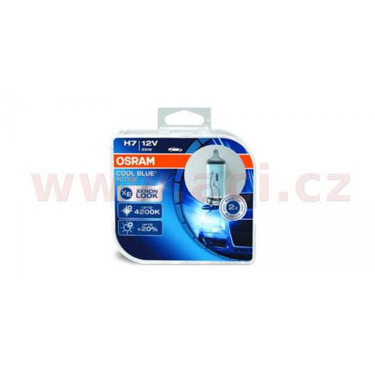 žárovky H7 12V 55W (patice PX26d) OSRAM COOL BLUE INTENSE (2 ks v boxu)