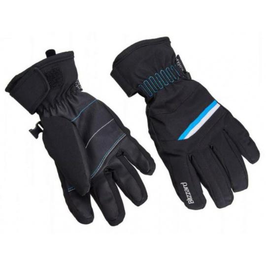 lyžařské rukavice BLIZZARD Viva Plose, black/white/turquoise