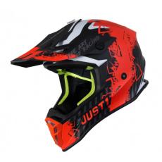 Moto přilba JUST1 J38 MASK matná neonově oranžovo/titanovo/černá