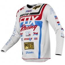 Pánský MX dres Fox Racing 180 RWT SE Jersey White/Red/Blue