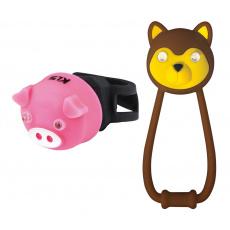 KELLYS Osvětlení set KLS ANIMAL, brown/pink
