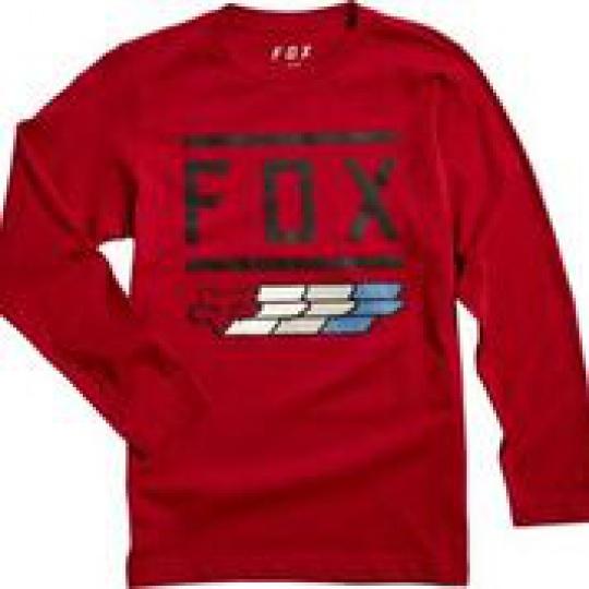 Dětské triko Fox Youth Fox Super Ls Tee Cardinal
