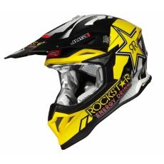 Moto přilba JUST1 J39 ROCKSTAR matná černo/žlutá