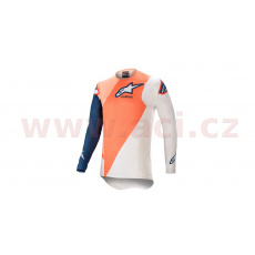 dres SUPERTECH BLAZE 2021, ALPINESTARS (modrá/oranžová/bílá)
