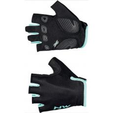 Dámské rukavice Northwave Active Woman Short Finger Glove Black/Light Blue