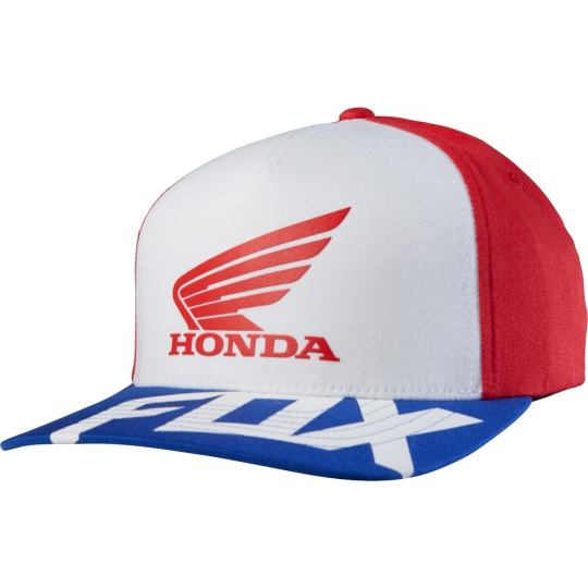 Pánská čepice Fox Honda Basic FF Hat Red/White