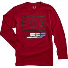 Dětské triko Fox Youth Fox Super Ls Tee Cardinal vel. YM