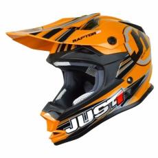 Dětská moto přilba JUST1 J32 RAPTOR oranžová
