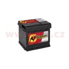 44Ah baterie, 420A, pravá BANNER Power Bull 210x175x175