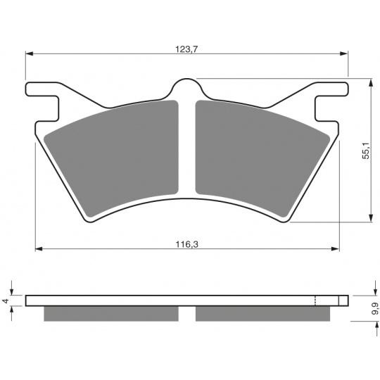 brzdové desky GOLDFREN 208 S3
