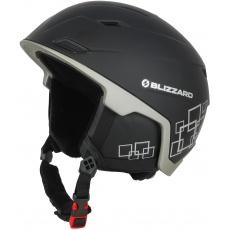helma BLIZZARD Double ski helmet, black matt/gun metal/silver squares