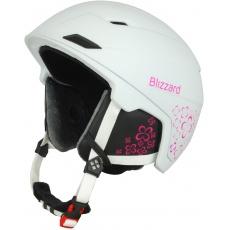 helma BLIZZARD Viva Double ski helmet, white matt/magenta flowers
