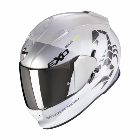 Moto přilba SCORPION EXO-510 AIR PIQUE bílo/stříbrná