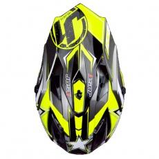 Kšilt JUST1 J32 MOTO X žlutý