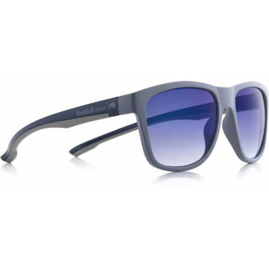 sluneční brýle RED BULL SPECT Sun glasses, BUBBLE-002, grey, grey, smoke gradient with blue flash, 54-17-145