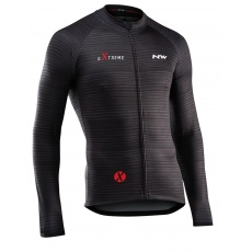 Pánský dres Northwave Extreme 4 Jersey ong Sleeves Black/Dark Red