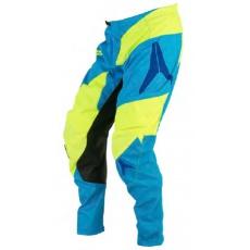 Motokrosové kalhoty ALIAS MX A2 cyan/neonově žluté 2060-347