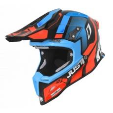 Moto přilba JUST1 J12 VECTOR oranžovo/modro/carbonová
