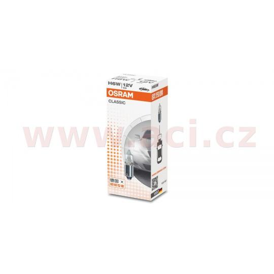žárovka H6W 12V 6W (patice BAX9s) OSRAM