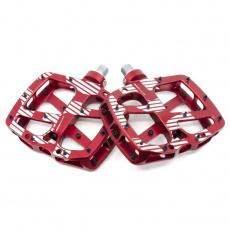 Plus Flat Pedal | Aluminum Body | 22 Pins | Red