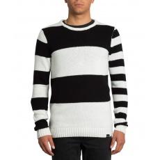 Pánský svetr Volcom Edmonder Striped Black