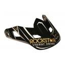 Náhradní kšilt Fox V2 Rockstar Hlmt Visor Black/Gold