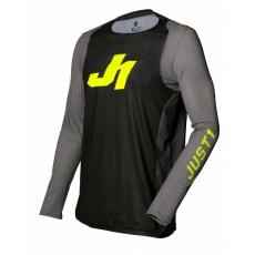 Dres JUST1 J-FLEX ARIA tmavě šedo/neonově žlutý