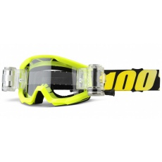 STRATA JR Mud Goggle Neon Yellow - Clear Lens