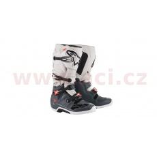boty TECH 7 2022, ALPINESTARS (tmavě šedá/světle šedá/červená fluo)