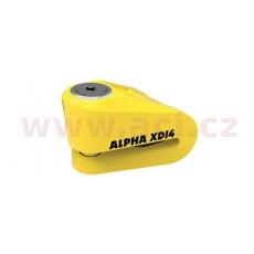zámek kotoučové brzdy Alpha XD14, OXFORD (žlutý, průměr čepu 14 mm)