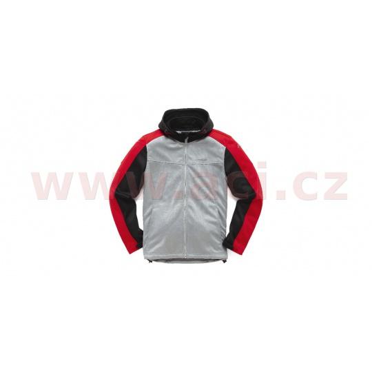 bunda STRATIFIED, ALPINESTARS (stříbrná/černá/červená)