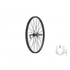"""KELLYS Zapletené kolo zadní KLS WASPER FREEWHEEL V-brake R, 24"""", black"""