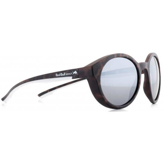 sluneční brýle RED BULL SPECT Sun glasses, SNAP-001P, havanna, white, smoke with silver flash POL, 52-21-145