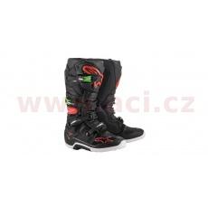 boty TECH 7 2022, ALPINESTARS (černá/červená/zelená)