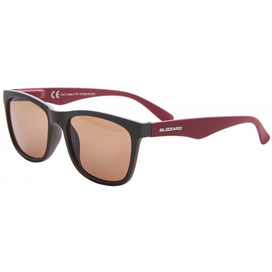sluneční brýle BLIZZARD sun glasses PC4064002, rubber dark grey, 56-15-133