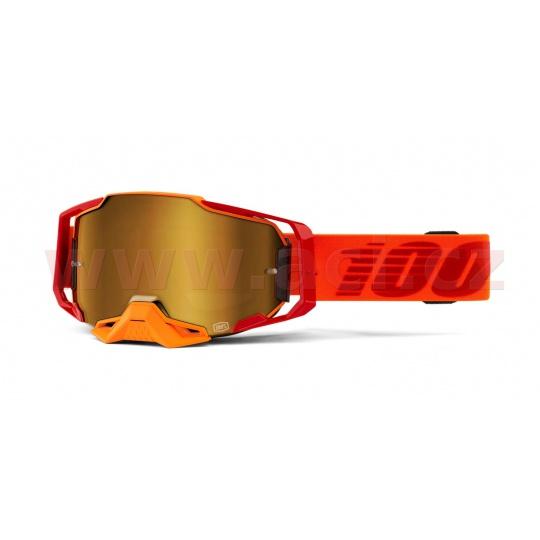brýle ARMEGA Litkit, 100% (zlaté chromované plexi s čepy pro slídy)